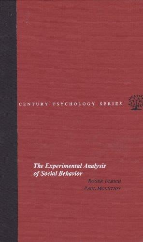 9780390889751: The Experimental Analysis of Social Behavior