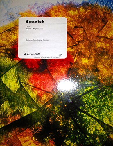 9780390911636: Spanish- Beginner Level 1 (Cambridge Center for Adult Education)