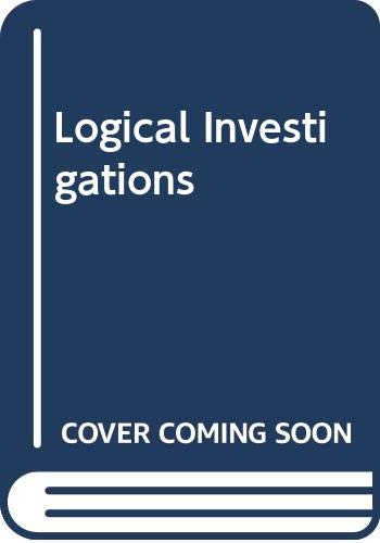 9780391000537: Logical Investigations (2 Volumes Set) (International Library of Philosophy and Scientific Method)