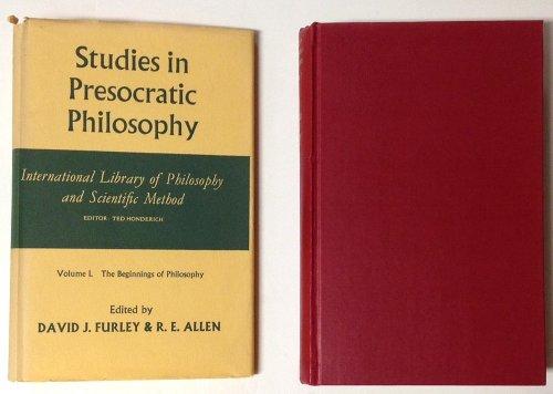 9780391000773: Studies in Presocratic (Pre-Socratic) Philosophy, Vol. 1: The Beginnings of Philosophy