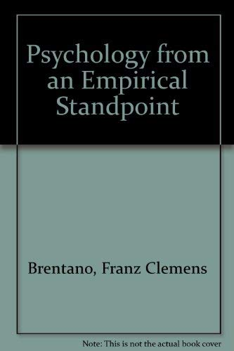 9780391002531: Psychology from an Empirical Standpoint