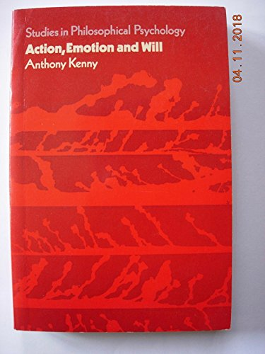 9780391002722: Action Emotion and Will
