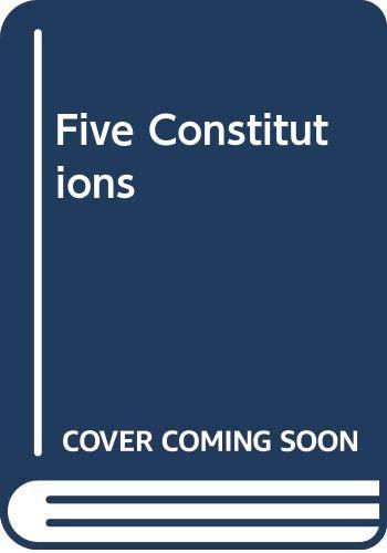 9780391009677: Five Constitutions