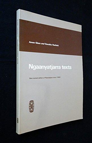 Ngaanyatjarra Texts: Glass, Amee; Dorothy Hackett