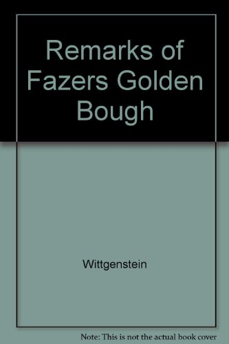 9780391029521: Remarks on Frazer's Golden Bough (English and German Edition)