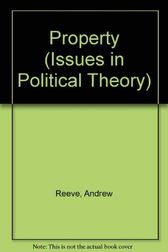 9780391034389: Property (Issues in Political Theory)