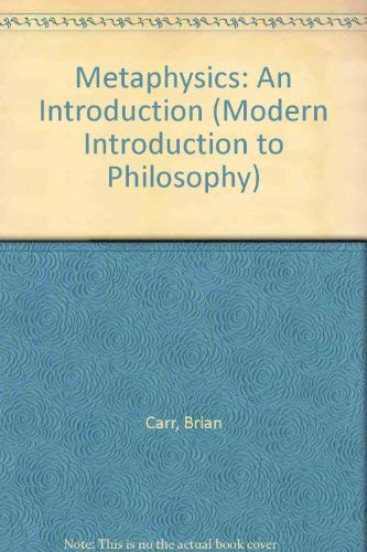 9780391035089: Metaphysics: An Introduction (Modern Introduction to Philosophy)