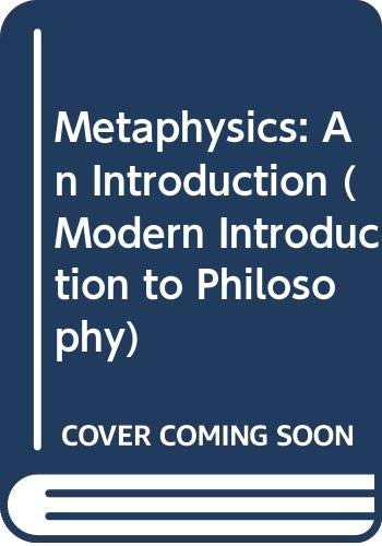 Metaphysics: An Introduction (Modern Introduction to Philosophy): Carr, Brian