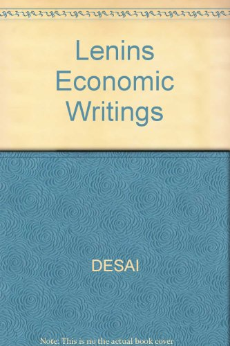 Lenin's Economic Writings: Desai, Meghhad, Lenin,