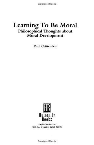 9780391037533: Learning to be Moral: Philosophical Thoughts About Moral Development (Studies in Applied Philosophy)