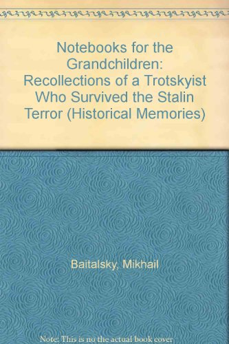 9780391038295: Notebooks for the Grandchildren: Recollections of a Trotskyist Who Survived the Stalin Terror (Historical Memories)