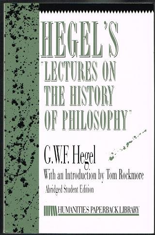 9780391039575: Hegel's Lectures on the History of Philosophy (Humanities Paperback Library)
