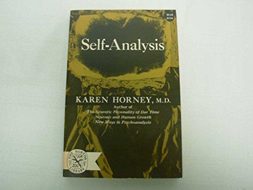 9780393001341: Self Analysis