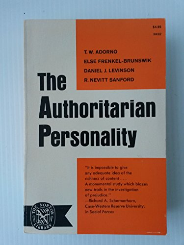 9780393004922: The Authoritarian Personality.