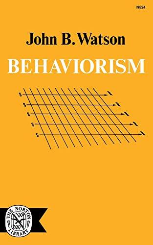 9780393005240: Behaviorism