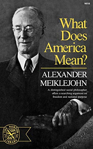 9780393006582: What Does America Mean? (Norton Library, N658)