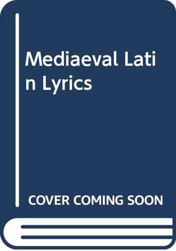 9780393008739: Mediaeval Latin Lyrics
