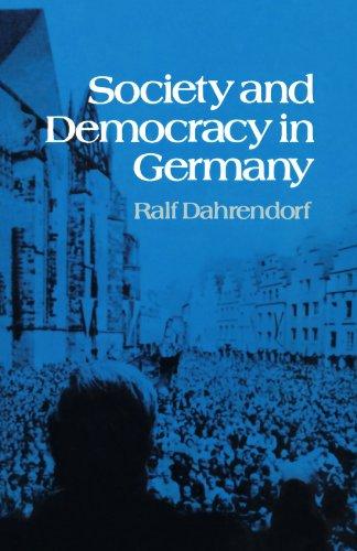 9780393009538: Society and Democracy in Germany