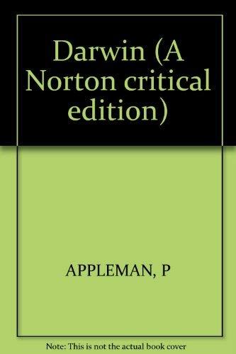 9780393011920: Darwin (A Norton critical edition)