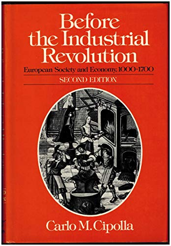 9780393013436: Cipolla: before the Industrial Revolution 2ed (Cloth) (English and Italian Edition)