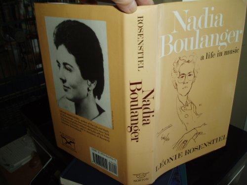 9780393014952: Nadia Boulanger L Rosenstiel