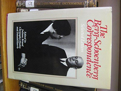 9780393019193: The Berg-Schoenberg Correspondence: Selected Letters (English and German Edition)