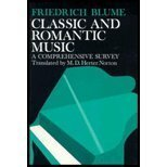 9780393021370: Classic and romantic music;: A comprehensive survey