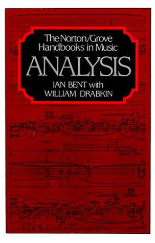9780393024470: Analysis (Norton/Grove Handbooks in Music)