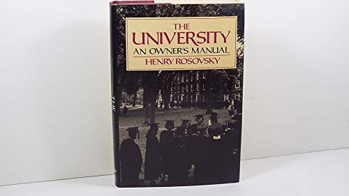 9780393027822: Rosovsky: the University: an Owner'S Manual (Cloth)