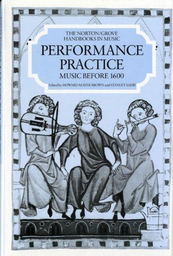 9780393028072: Performance Practice: Music Before 1600 (Norton/Grove Handbooks in Music)