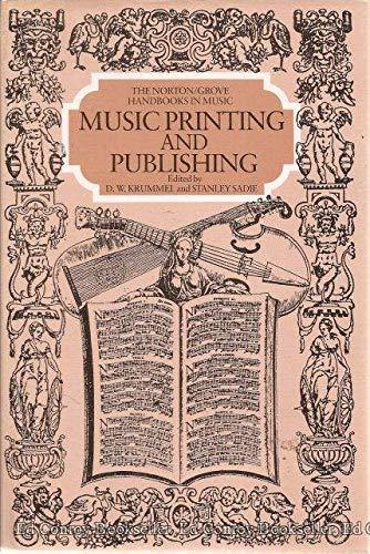 9780393028096: Music Printing and Publishing (Norton/Grove Handbooks in Music)