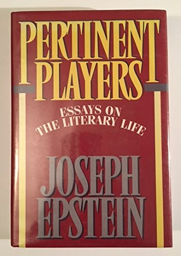 joseph epstein essay Joseph epstein, a distinguished essayist, is the former editor of the american scholar, the author of a number of short-story collections, and a regular contributor to magazines such as commentary.
