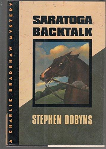 9780393036596: Saratoga Backtalk (A Charlie Bradshaw Mystery)