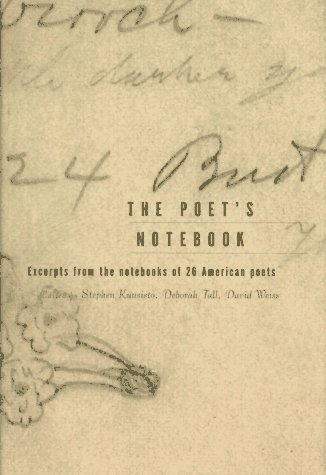 9780393038668: The Poet's Notebook: Excerpts from the Notebooks of Contemporary American Poets