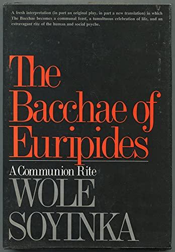 9780393043969: Soyinka Bacchae of Euripides (Cloth)