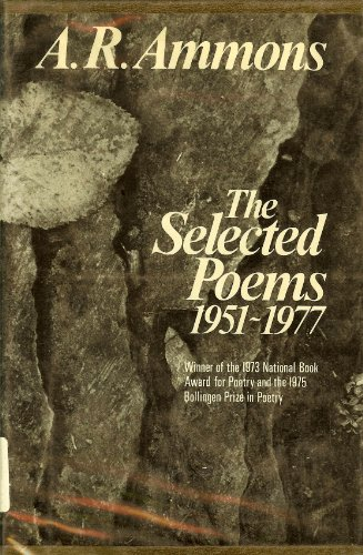Selected Poems: 1951-1977.: AMMONS, A. R.
