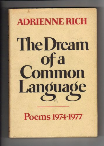 9780393045024: The Dream of a Common Language: Poems, 1974-77