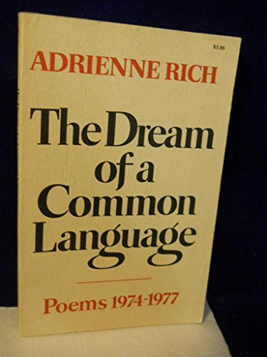 9780393045109: The Dream of a Common Language: Poems, 1974-77
