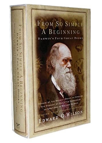 9780393061345: From So Simple A Beginning: The Four Great Books Of Charles Darwin