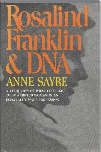 9780393074932: Sayre Rosalind Franklin and DNA (Cloth)