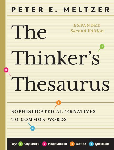 9780393078244: The Thinker's Thesaurus: Sophisticated Alternatives to Common Words (Expanded Second Edition)