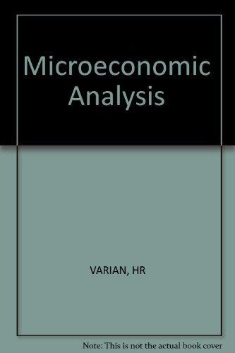 Microeconomic Analysis: Hal R. Varian