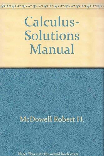 9780393090543: Calculus, Solutions Manual