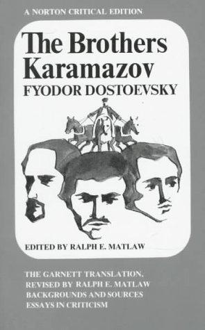 9780393092141: The Brothers Karamazov: The Garnett Translation (Norton Critical Editions)