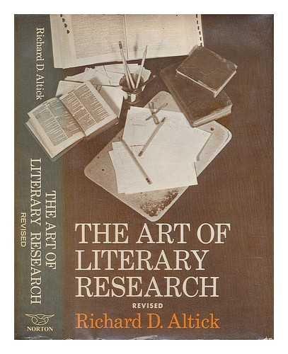 Art of Literary Research: Richard D. Altick