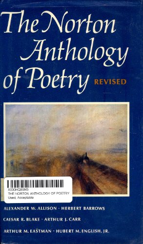 9780393092400: The Norton Anthology of Poetry