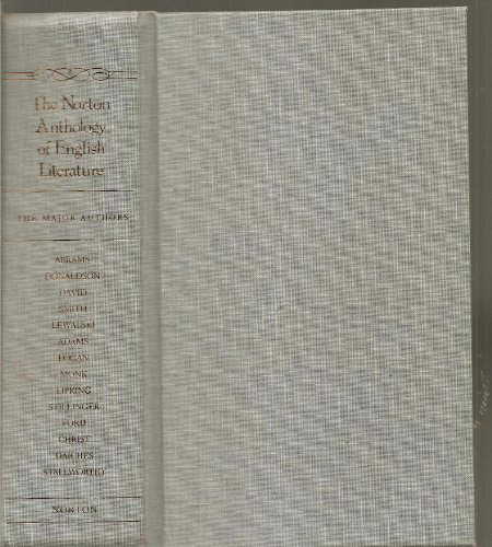 9780393092998: Norton Anthology of English Literature