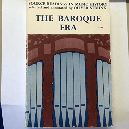 9780393096828: Source Readings in Music History: The Baroque Era