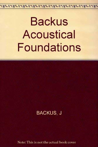9780393098341: The Acoustical Foundations of Music