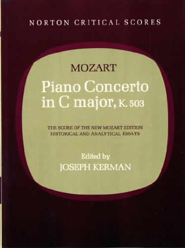 9780393098907: Piano Concerto in C Major, K. 503 (Norton Critical Scores)